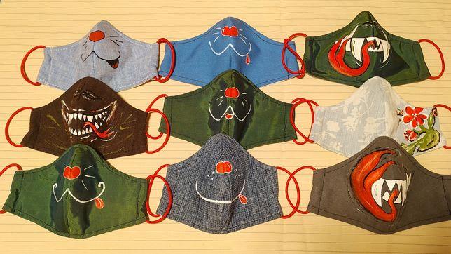 Многоразовая захисна маска НЕ медицинская защитная детская с рисунком