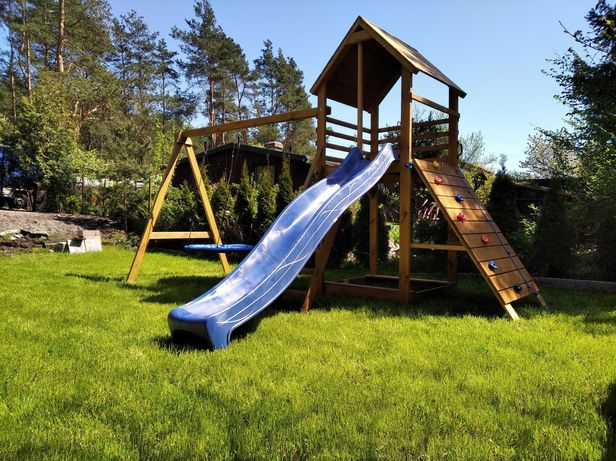 Drewniany Place zabaw dla dzieci Zapraszamy