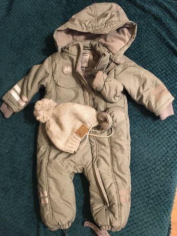 Kombinezon zimowy niemowlęcy Smyk Coolclub rozmiar 80 z czapką