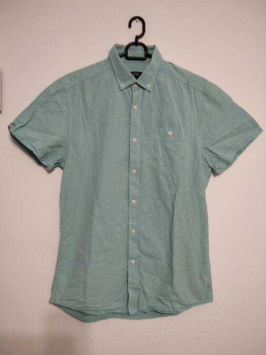 Wysylka za 1 zł Męska koszula w kratkę S F&F elegancka krótki rękaw Toruń - image 1