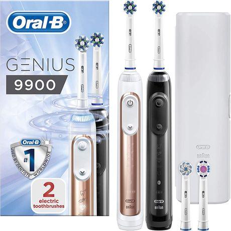 Oral-B Genius 9900 набор из 2 электрических зубных щеток