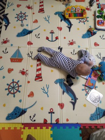Складний дитячий двосторонній килимок Carrello 200*180см термоковрик