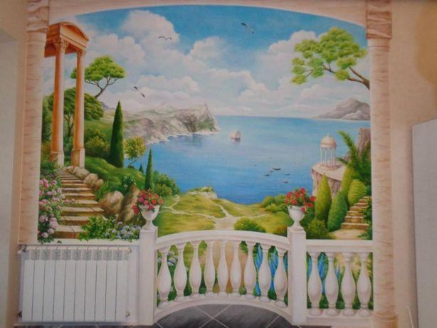 Роспись стен, мебели, керамики, картины на заказ, услуги художника
