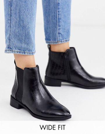 Ботинки ботильйони сапоги сапожки челси для ексташирокой стопи