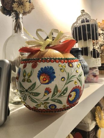 Tanio bąbka jajko dekoracja ozdoba kwiecisty motyw ręczna praca