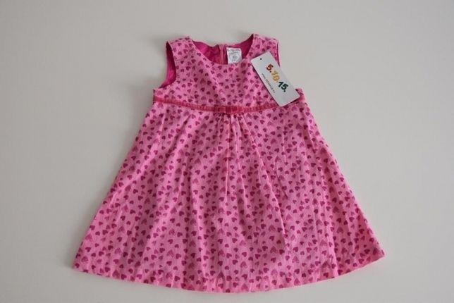 sukienka dziewczęca r. 80, 5-10-15