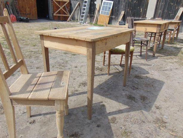 Stoliki stół stoły dwa stare sosnowe nogi dębowe okazja z drewna