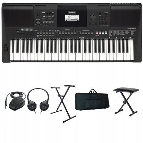 Keyboard YAMAHA PSR E-463 E463 Zestaw XXL - NOWY