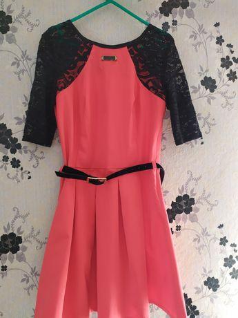 Святкова сукня , коралова сукня, коралове плаття