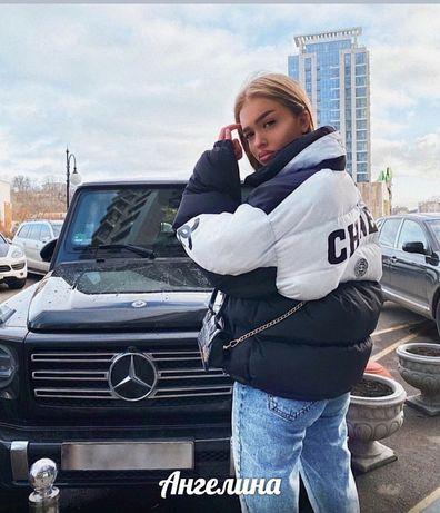 2020! Модный теплый пуховик пухан курточка зимний в стиле Chanel