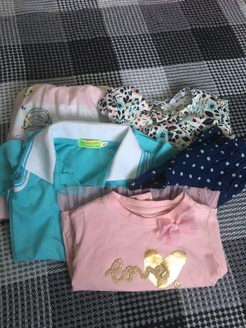 Лосіни, плаття, кофта. Розмір 92