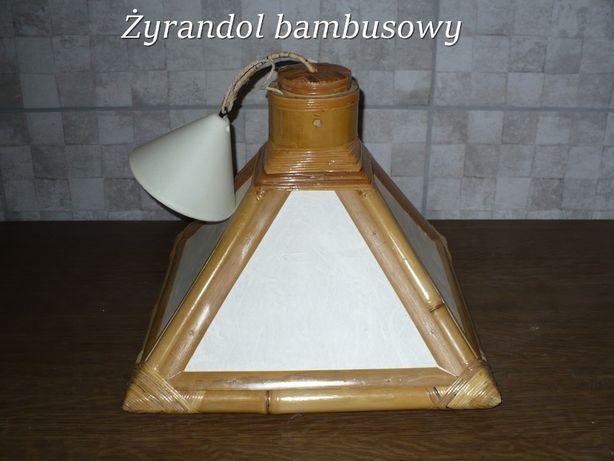 Żyrandol z naturalnego bambusa made in Belgia