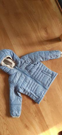 Kurtka na wiosnę 86-92 cm 1,5-2 lata niebieska