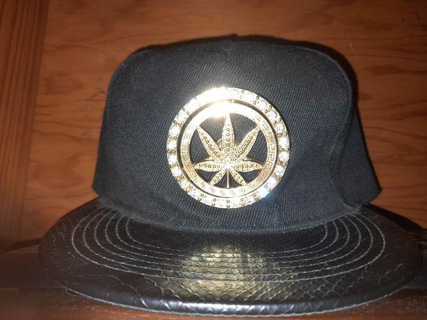 Chapéu Cannabis Dourado