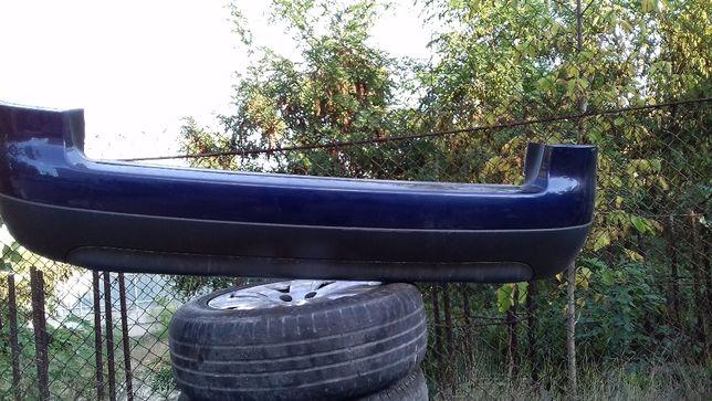 Бампер задний Audi A6 C5 с усилителем, синий вся обшивка салона