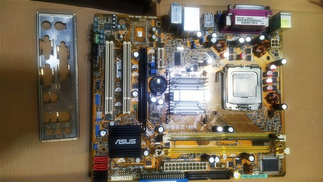Asus P5GZ-MX DDR2 VGA PCI-E LGA775  Celeron 2,6 Ghz материнка
