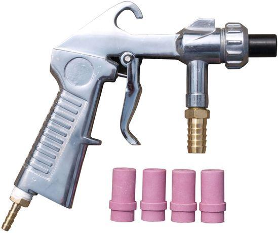 Pistolet do piaskarki kabinowej z kompletem dysz + dysza stalowa