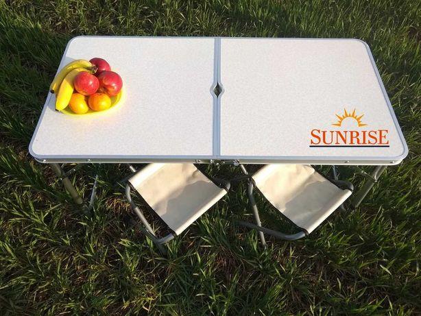 Стол чемодан складной, раскладной алюминиевый для пикника + 4 стула