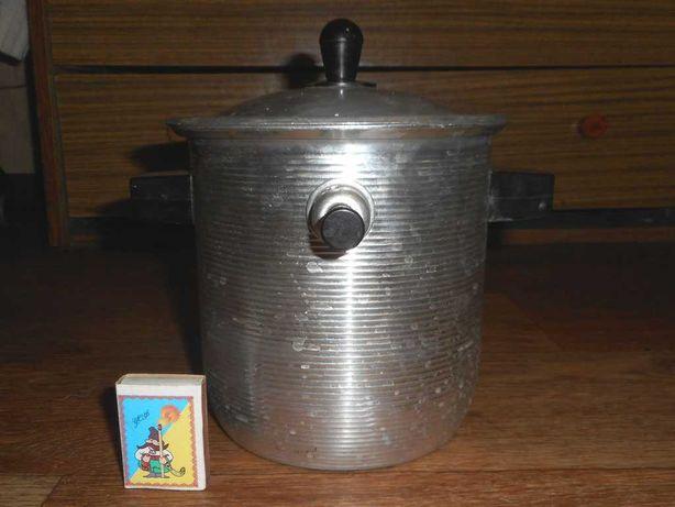 Алюминиевая кастрюля для каши, молоковарка 2л со свистком