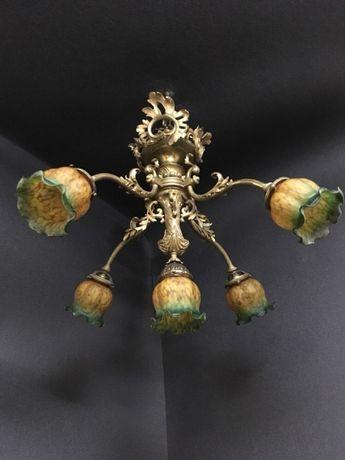 Антикварная бронзовая люстра светильник лампа антиквариат Киев Украина