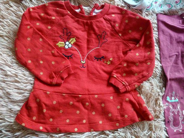 Bluzeczka świąteczna dla dziewczynki rozmiar 74