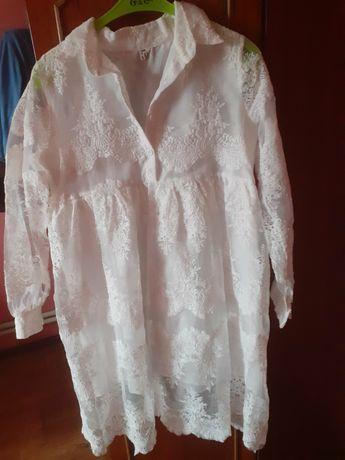 Продам Белое   кружевное платье