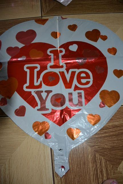 """Balon na hel, serce"""" I love you """" 18 cali"""