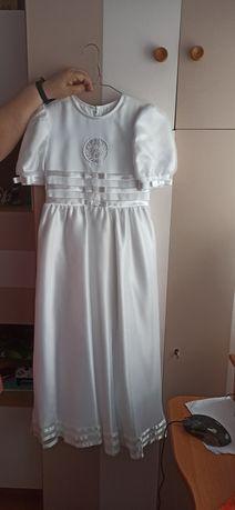 Sukienka komunijna, alba, atłasowa pelerynka GRATIS
