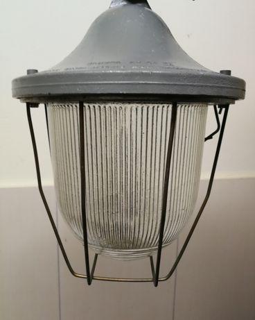 Lampa wisząca z siatką metalową przemysłowa oprawa industrial LOFT PRL