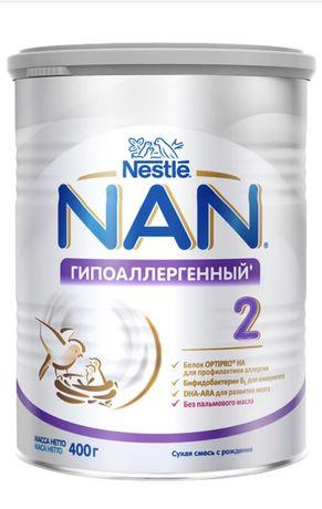 Cмесь Nestle NAN Гипоаллергенный 2 с 6 месяцев