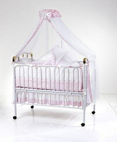 Детская кроватка geoby для маленькой принцессы с балдахином и люлькой