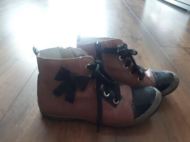 Botki półbuty sneakersy Kornecki skóra r.32
