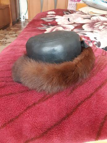 Продам шапку кожаную