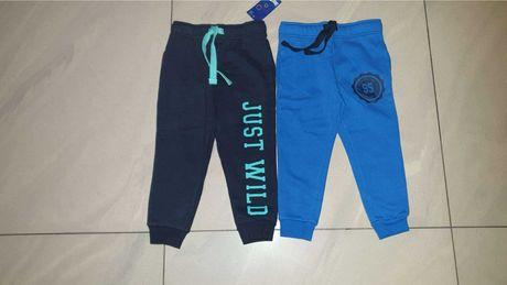 Cienkie spodnie dresowe 2 pary w rozmiarze 86-92