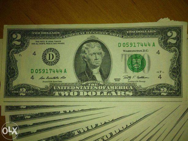 Доллары США, купюра 2 доллара