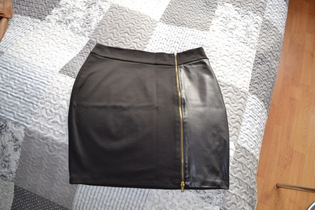 spódnica czarna mini z zamkiem rozmiar 42