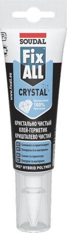 Клей-герметик FIX ALL CRYSTAL | Кл/Герметик FIX ALL Crystal 125мл