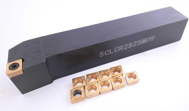 Nóż tokarski SCLCR 2525 M09 + 10 PŁYTEK CCMT 09
