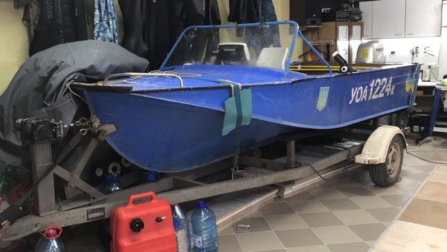 Катер Воронеж с мотором Honda 25