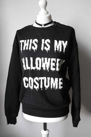 Halloween bluza świeci w ciemności H&M print gothic punk horror
