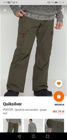 Nowe spodnie narciarskie snowboardowe Quiksilver