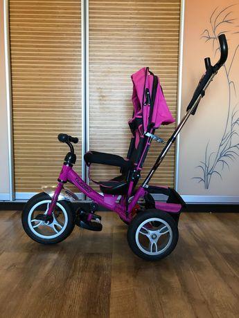 Детский велосипед с управляемой ручкой turbo trike трехколёсный