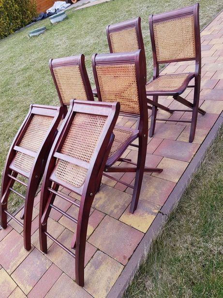 Zestaw 6 krzeseł skladanych