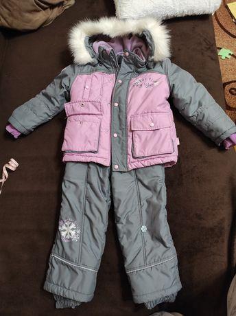 Детский зимний комбинезон для девочки 3-4 года