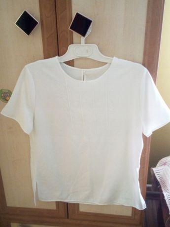 Bluzka Marks&Spencer, 40 White elegancka do pracy biura