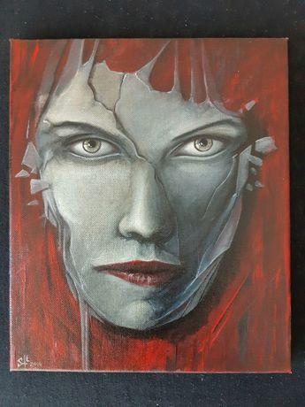 Obraz olejny ręcznie malowany na płótnie 30 × 25 cm.