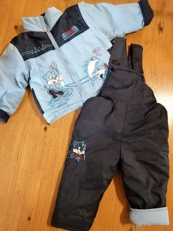 Демисезонний комплект(курточка+комбінезон) на 2-4 роки.