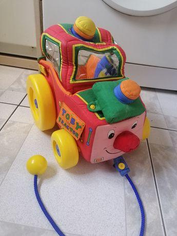 Мягкая большая текстильная машина каталка трактор для малышей