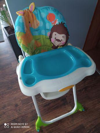 Krzesełko do karmienia Fisher Price dla dziecka stan idealny stolik