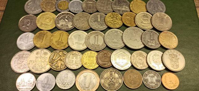 Набор монет номіналом 1, 45шт по одній з кожної країни